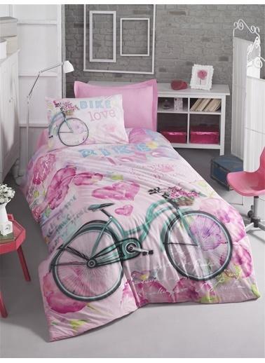Cotton Box Tek Kisilik %100 Pamuk  Ranforce Nevresim Takımı Bike Renkli